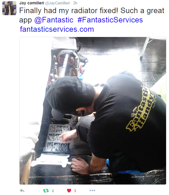 Jay Camilleri review of Fantastic Services on Twitter
