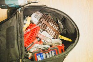 Bag with handyman tools