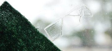 Sellotape and sponge on glass