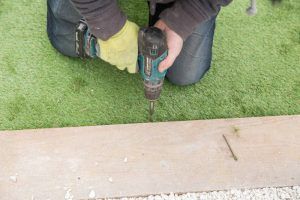 installation of artificial lawn