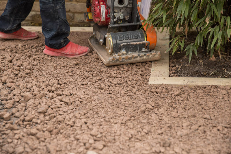 compacting lawn area