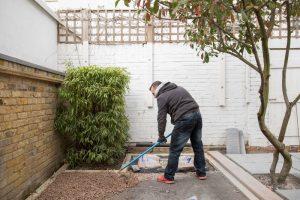 end of day 2 of garden transformation in clapham