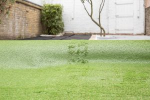 laying down artificial turf in clapham sw4