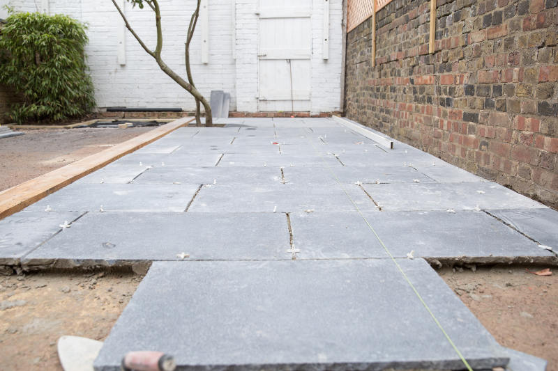 laying patio limestones in clapham