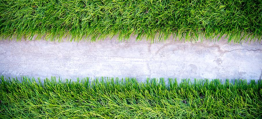 laying turf on concrete