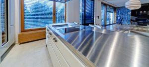 stainless steel worktop