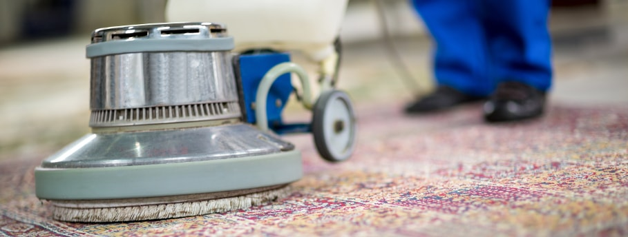 Cleaning carpets with a shampoo method