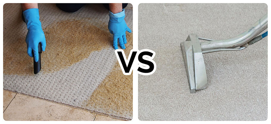 Steam carpet cleaning vs Dry cleaning