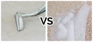 Steam carpet cleaning vs Carpet shampooing