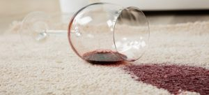 Removing wine stains from carpet