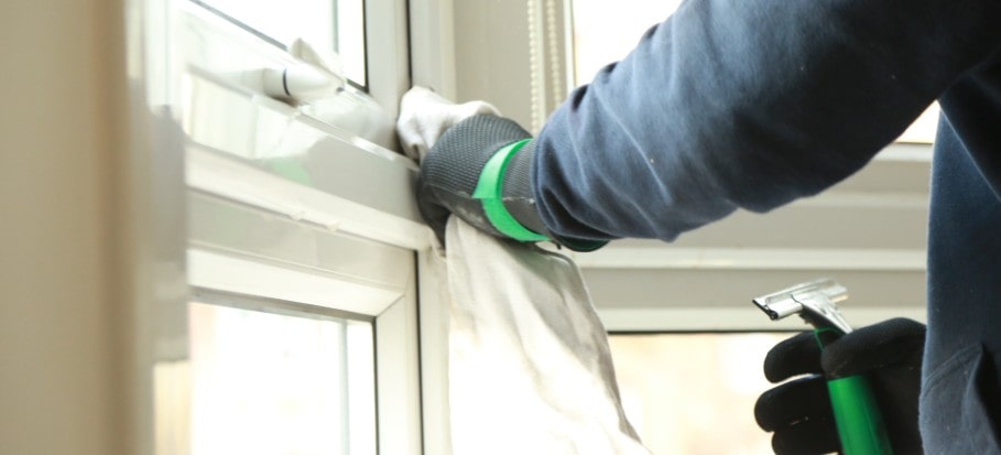 How to clean upvc window frames and sills
