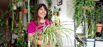 Sarah with spider plant