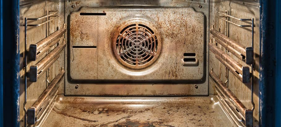 Greasy oven.