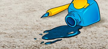 ink spilt on carpet
