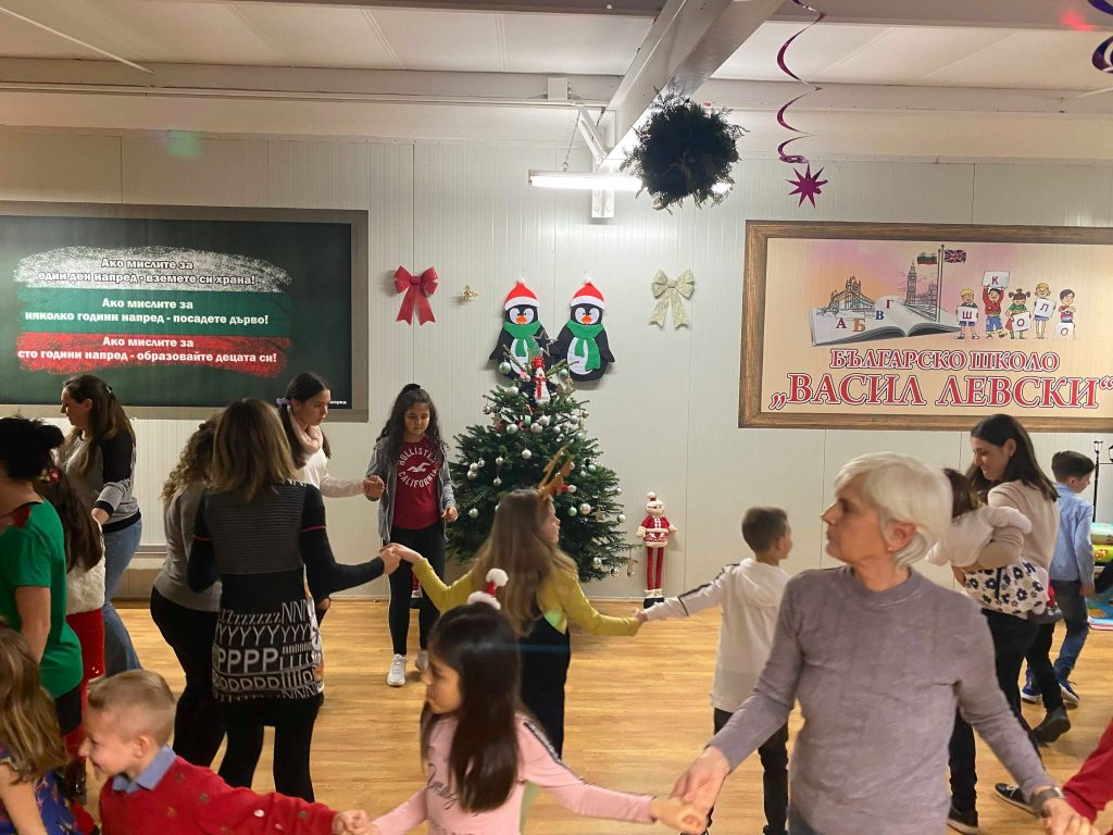 kids adults dancing