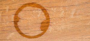 dark water stain on wood