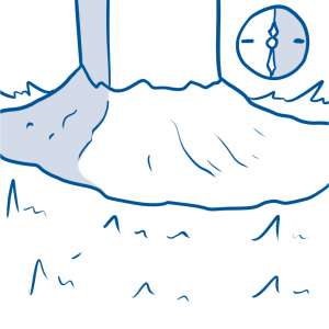 drawing of fence pole