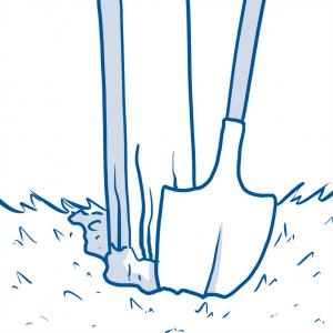 drawing of shovel