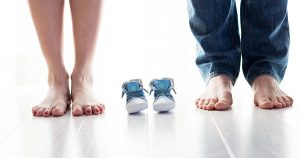 woman and man's feet