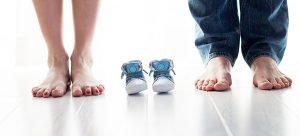 man and woman feet