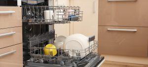 open dishwasher - cleaning a dishwasher