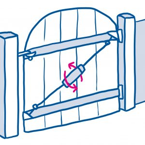 drawing of fence door