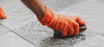 removing cement from tiles