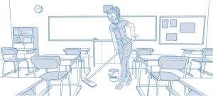 Antiviral sanitisation for schools