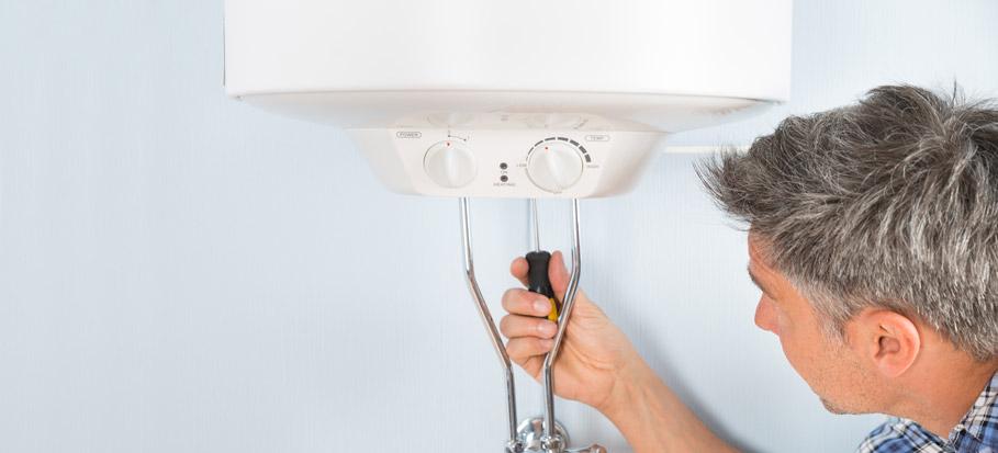 servicing a boiler