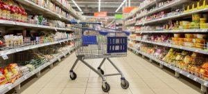 empty cart in supermarket