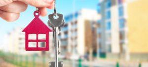 hand holding keys for property