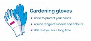 drawing of gardening gloves