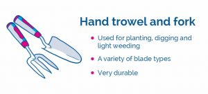 drawing of hand trowel