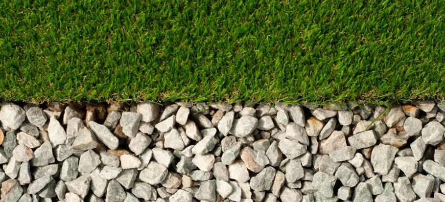 gravel and turf