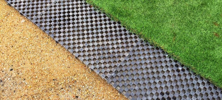 Sub base for artificial grass