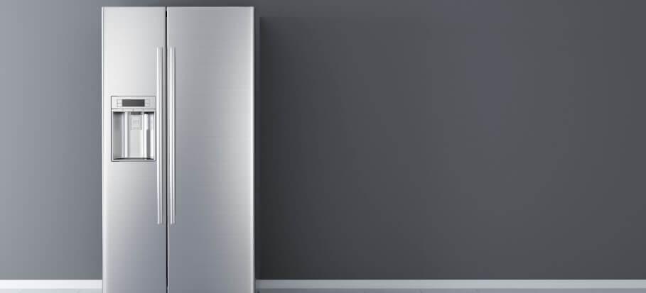 gray refrigerator