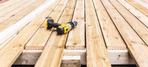 installing wooden decking