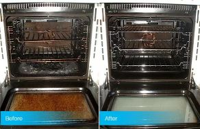 before after cleaning oven heating element