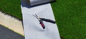 tools and supplies for joining artificial grass