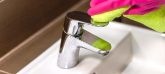 cleaning chrome tap